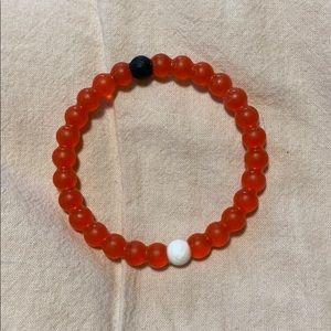 real translucent red lokai bracelet